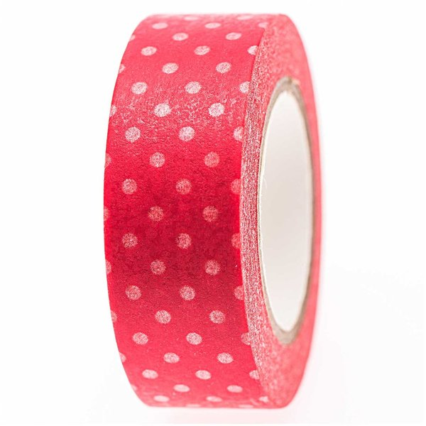Washi tape rood - stippen