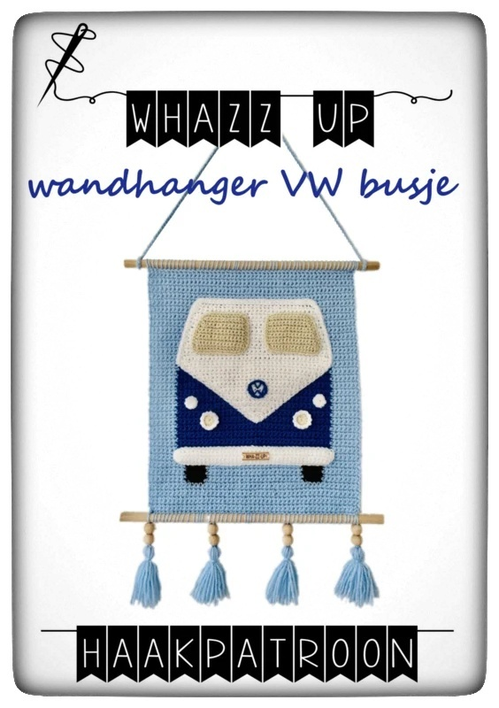 Whazz up - haakpatroon wandhanger VW busje